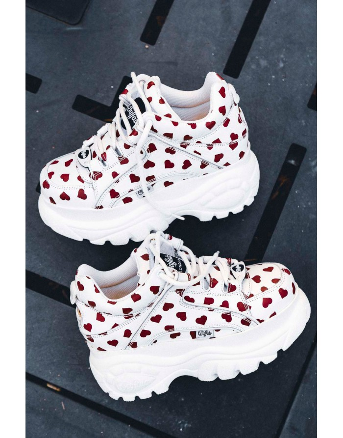 white / red hearts nappa leather 1339-14 2.0 -