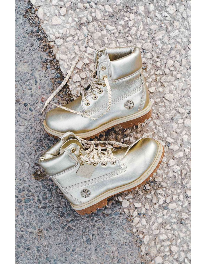 6inches premium boot - w gold