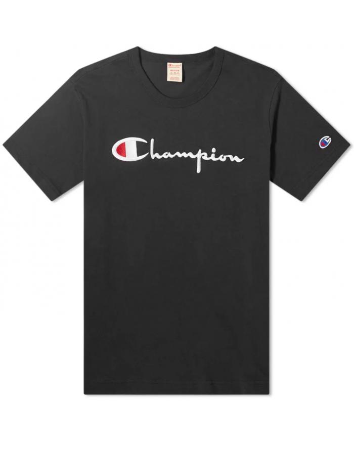 crewneck t-shirt reverse weave