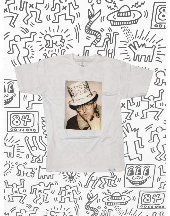 dmnd x keith haring in a hat tee