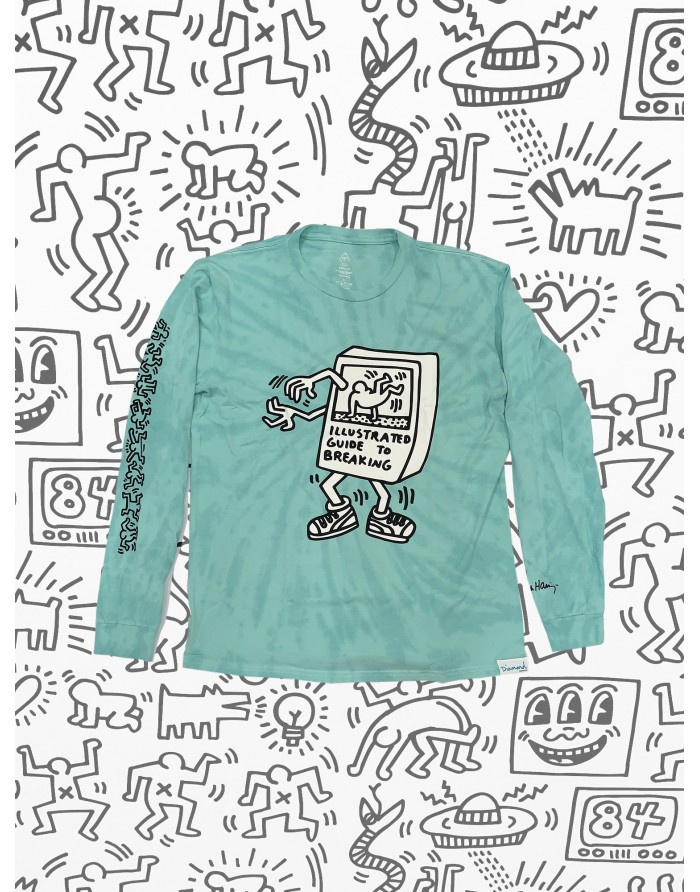 dmnd x keith haring break dance l/s tee