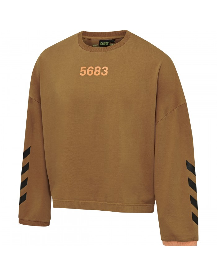 hmlwilly ruff neck t-shirt l/s