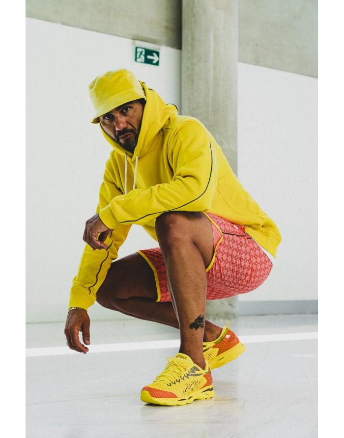 checkered cross hoodie