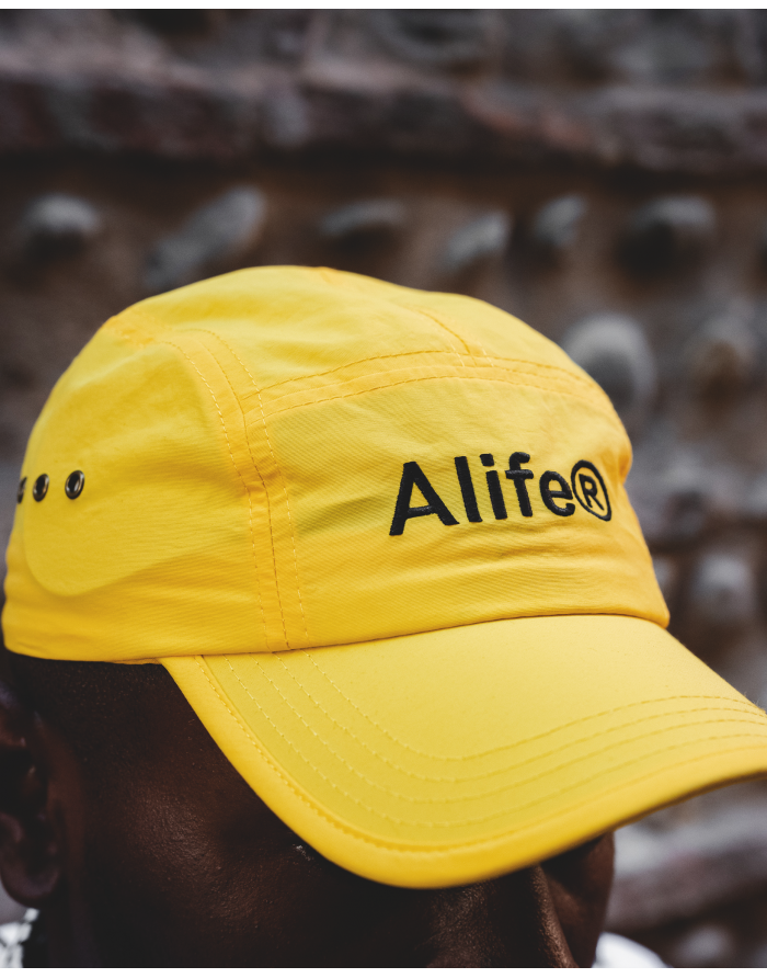 five panel generic logo hat