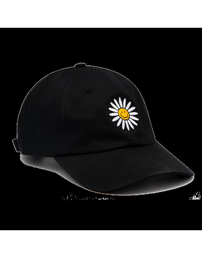 daisy baseball cap black