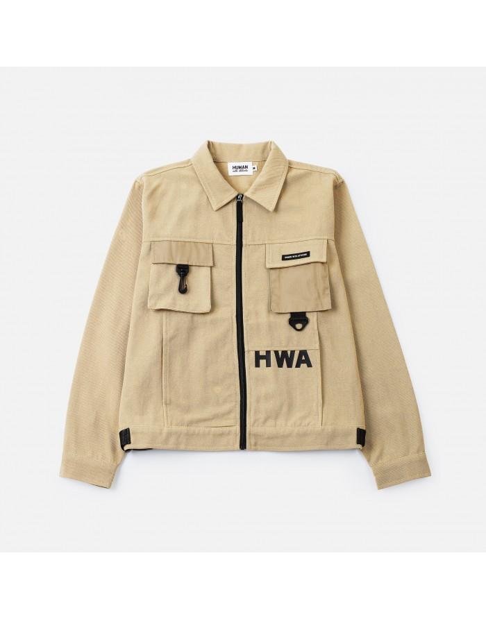 hwa - utility jacket beige