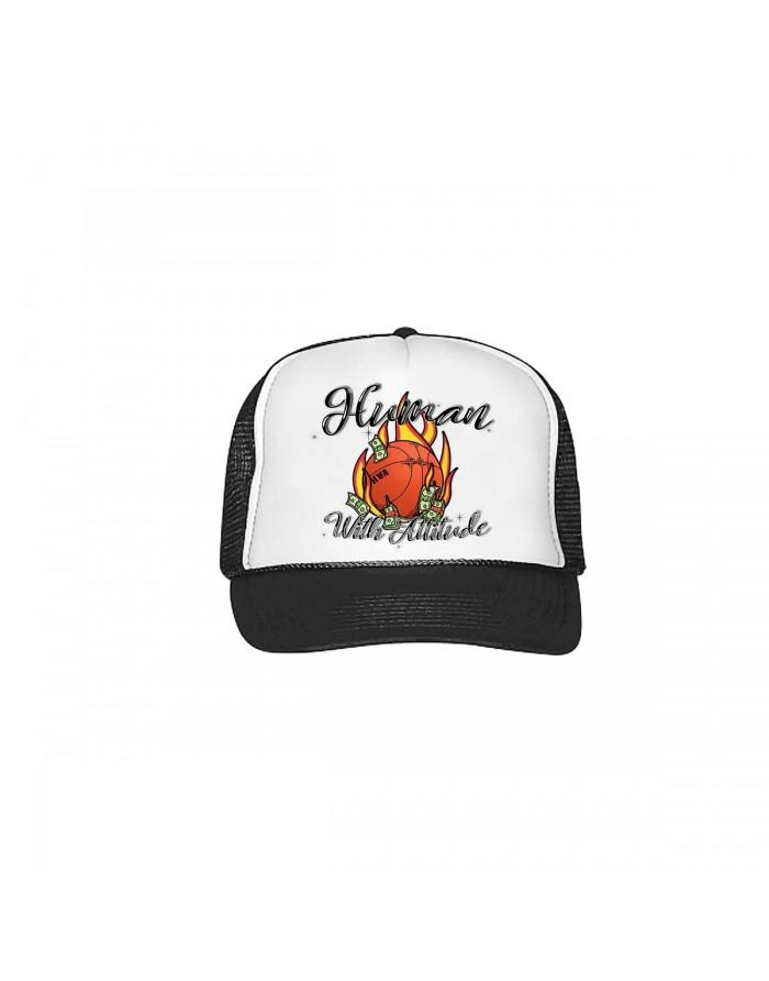 hwa ballin trucker hat